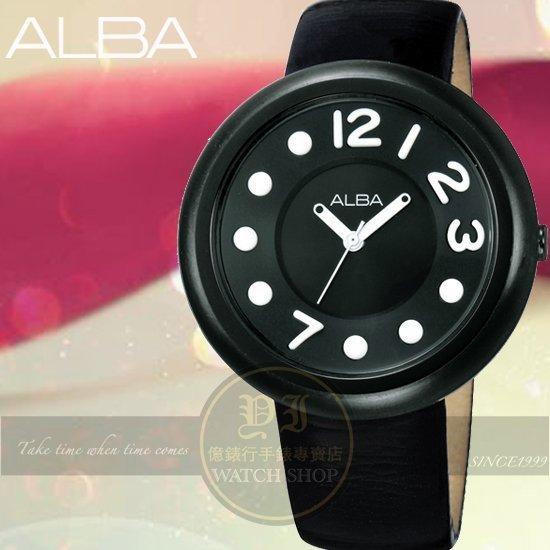 ALBA LOVE豆豆系列時尚腕錶-黑/38mm VJ21-X029C/AH8099X公司貨/禮物/聖誕節