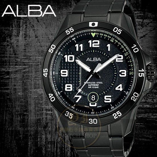 ALBA楊佑寧代言ACTIVE潮流型男腕錶-IP黑/45mm VJ42-X075SD/AS9505X1公司貨/禮物/情人