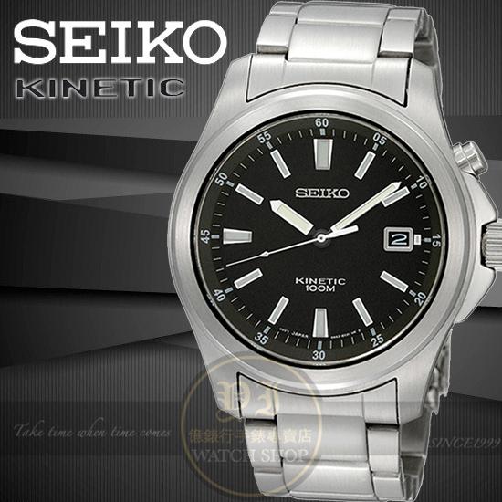 SEIKO日本精工都會簡約人動電能腕錶-黑 5M62-0CH0D/SKA463P1公司貨/王力宏/禮物/情人節