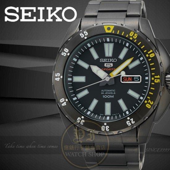 SEIKO日本精工盾牌5號怒海潛將機械腕錶-IP黑/42mm 4R36-01P0SD/SRP363J1公司貨/禮物/聖誕節