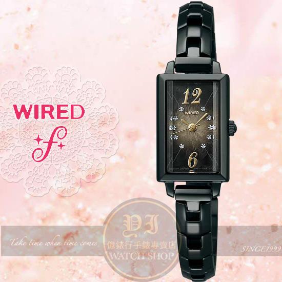 WIRED f日本原創VIVI玲奈推薦日本同步限量女錶IP黑/15mm 1N01-0PY1SD公司貨/聖誕節/生日禮物