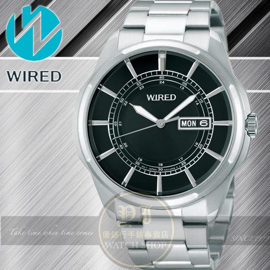 WIRED日本原創New Standard 原創玩家型男腕錶-黑/42mm 7N43-X004D /AF7A13X1公司貨/禮物/聖誕節