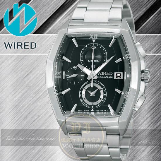 WIRED日本原創New Standard 潮男計時腕錶-黑/38mm 7T92-X249D /AF8R55X1公司貨/柯有倫
