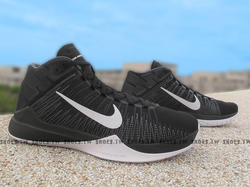 Shoestw【856575-001】NIKE ZOOM ASCENTION EP 籃球鞋 黑白