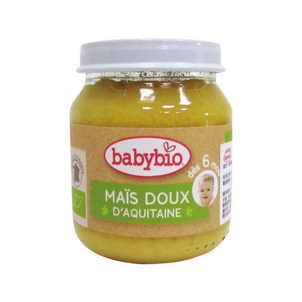 『121婦嬰用品館』法國 Babybio 有機甜玉米泥(130g/4M+)