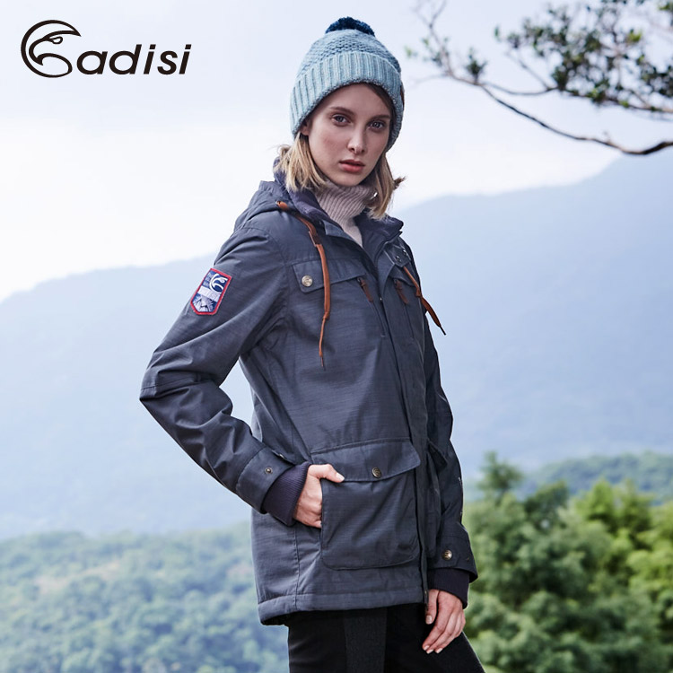 ADISI 女Primaloft可拆帽防水透氣保暖外套AJ1621046 (S~2XL) / 城市綠洲專賣(軍裝外套、防風、帥氣)