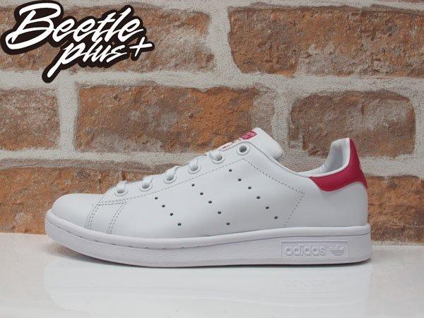 BEETLE PLUS ADIDAS ORIGINALS STAN SMITH 白桃紅 皮革 復古 休閒運動鞋 女鞋 AQ3499 B32703