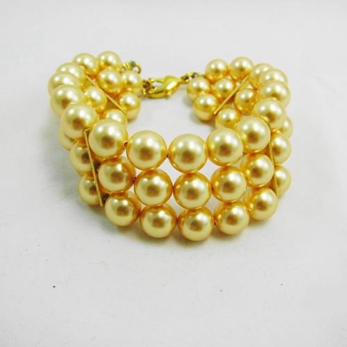 施華洛世奇寬版珍珠手鍊