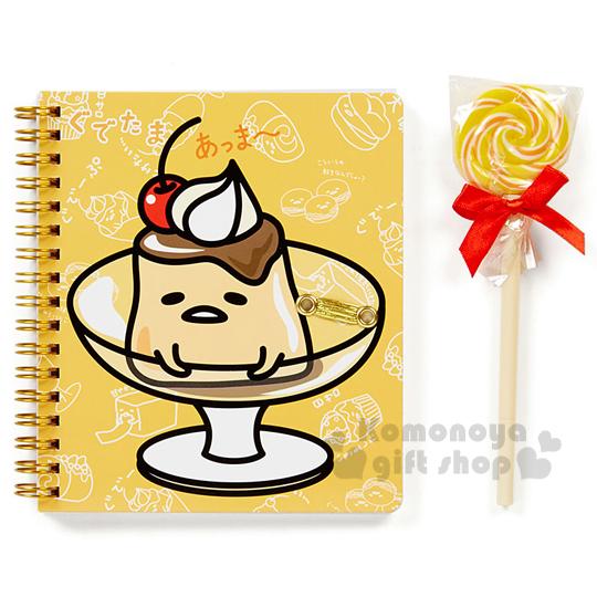 〔小禮堂〕蛋黃哥 筆記本附筆組《黃.布丁.棒棒糖.透明盒裝》文具禮盒系列