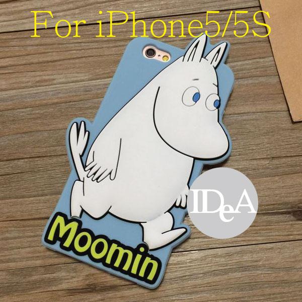 Apple 蘋果iPhone5/5S Plus 超人氣卡通 嚕嚕米TPU手機殼 保護殼 Moomin可兒阿諾 阿金小不點
