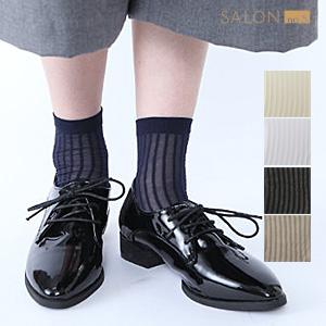 靴下屋Tabio 透膚條紋短襪/ 絲襪