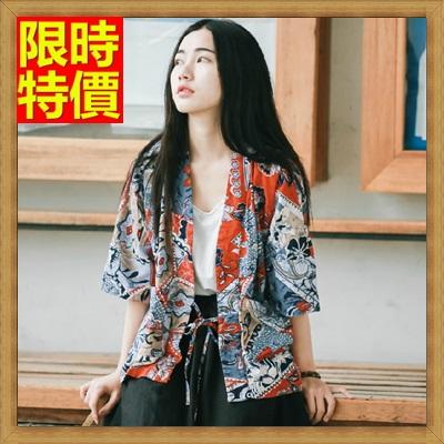 和服外套 和風女罩衫-日式改良式復古寬鬆防曬小外套68af18【日本進口】【米蘭精品】