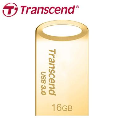 創見 JF710 16G USB 3.0 金屬材質,防塵防震防水碟(金) / 個