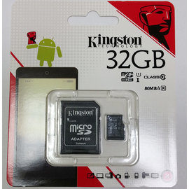kingston金士頓公司貨32GB記憶卡含轉卡 MicroSD Class C10高速記憶卡行車記錄器攝影機單眼手機