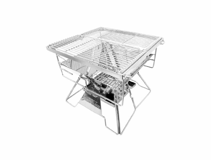 【露營趣】送炭床 CAMPLAND RV-ST210BX 無敵小金鋼 1mm極厚款焚火台 烤肉架 烤肉爐