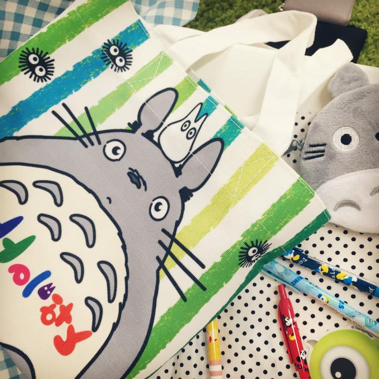 PGS7 日本卡通系列商品 - 豆豆龍 龍貓 收納袋 手提袋 環保購物袋 totoro 吉卜力
