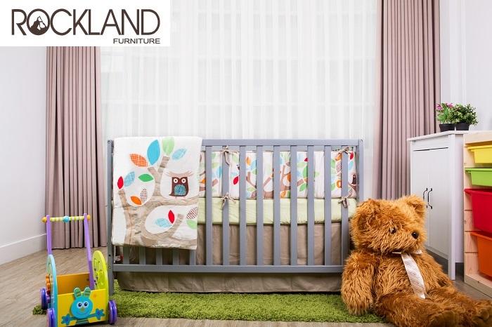 【Rockland】美式4合一嬰兒成長床(5色)-附贈床墊+床側護欄