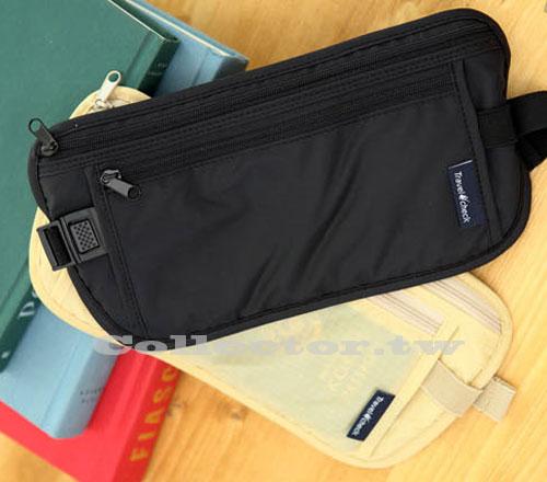 【G13091002】韓版 休閒旅行貼身腰包 收納包 防扒包 護照包