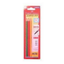 【輝柏 Faber-Castell】大三角鉛筆(3支入)+削筆器 #116503