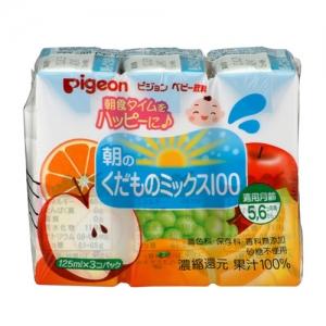 日本【貝親Pigeon】晨光綜合果汁 (125mlx3入)