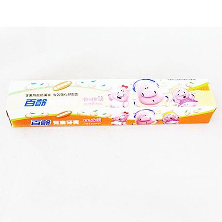 【敵富朗超巿】百齡兒童牙膏-水蜜桃