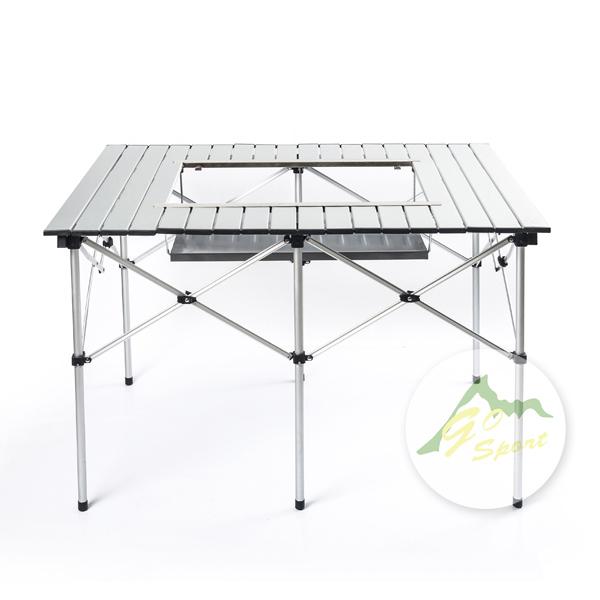 【露營趣】中和 GO SPORT 92120 六人火鍋鋁捲桌 BBB三用桌 燒烤桌 蛋捲桌 休閒桌 摺疊桌