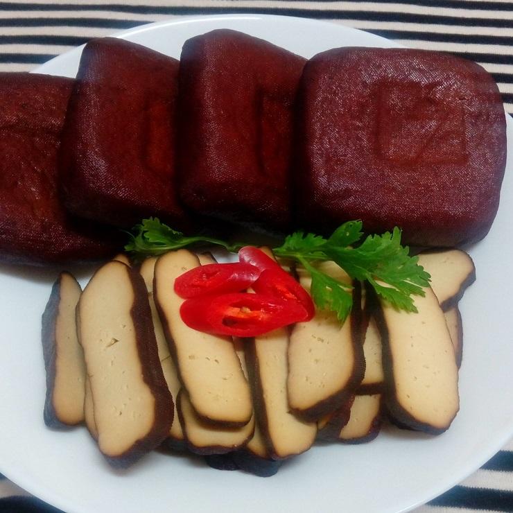 大溪素食滷味 龍鷹素食 黑糖滷味 滷黑豆干x4 買滷味附贈自製芝麻辣油包