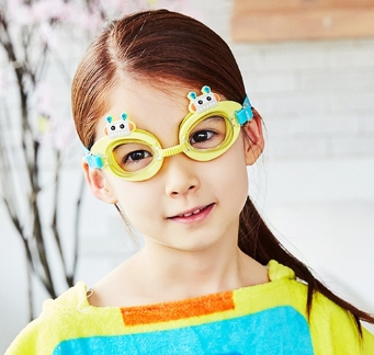 Lemonkid◆可愛機器人卡通造型兒童泳鏡防水護目鏡-黃色