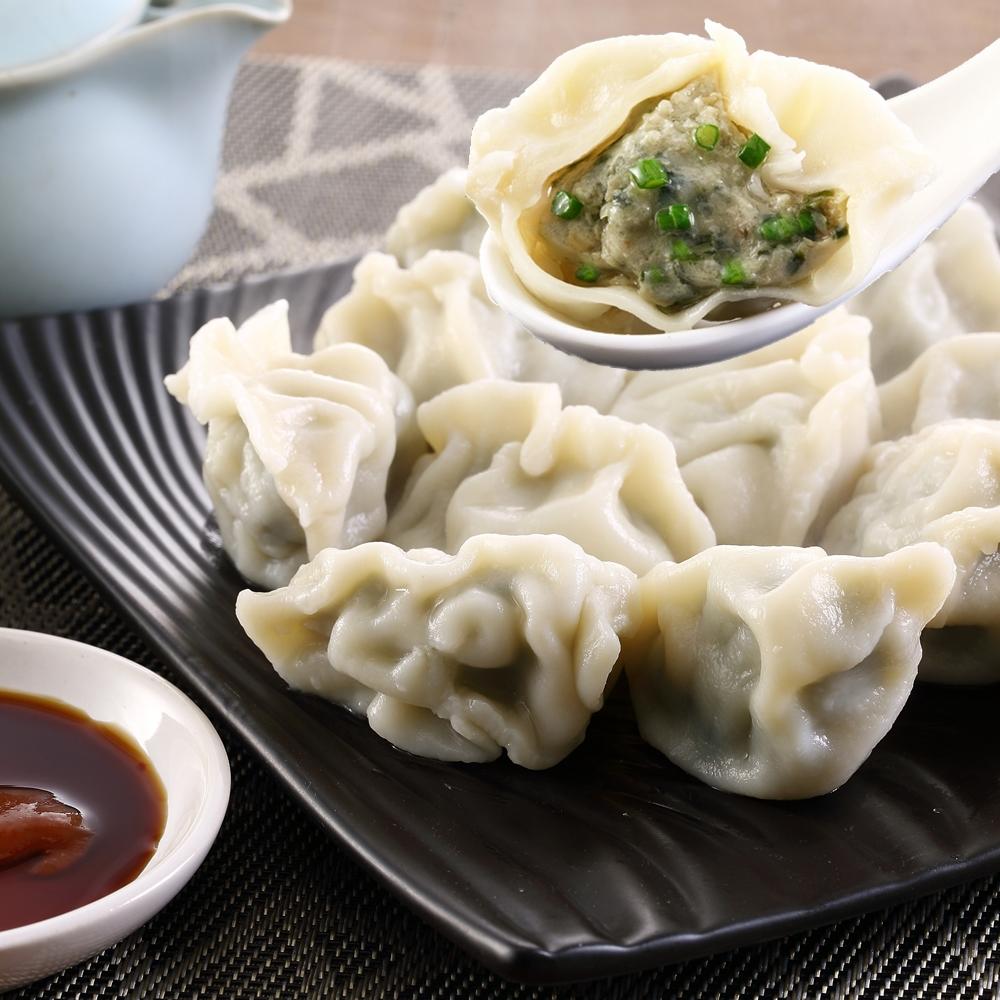 (蔥阿伯)優質嚴選-韭菜手工水餃(約40顆*1盒)