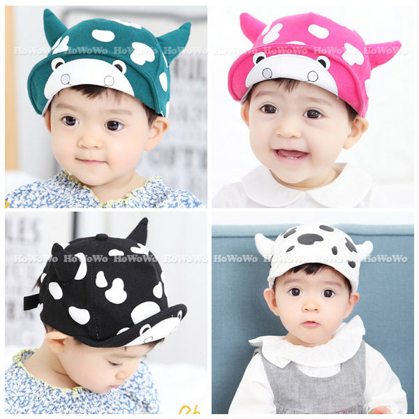 寶寶帽 乳牛造型棒球帽 軟沿鴨舌帽  嬰兒帽 防曬必備 BU1449