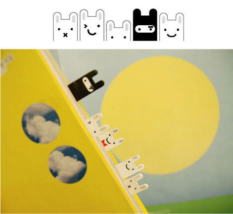 【L13062702】韓國J'story 忍者兔可愛便簽 便條紙/分頁貼/書簽 (5組*20張)