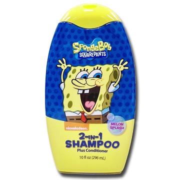 美國進口 Sponge Bob 海綿寶寶2合1洗潤髮乳-香甜哈密瓜296ml