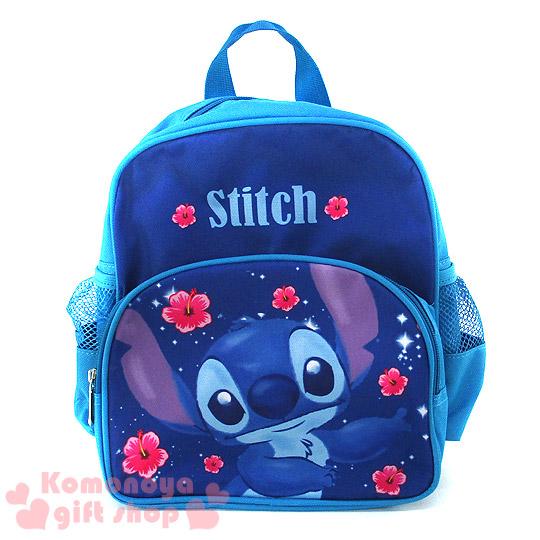 〔小禮堂〕史迪奇 兒童後背包《S.藍.站姿跳舞.扶桑花.6.5L》