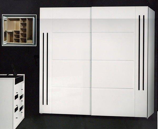【尚品傢俱】434-01 冬之戀 5尺雙人烤白床箱型床組+推門衣櫥