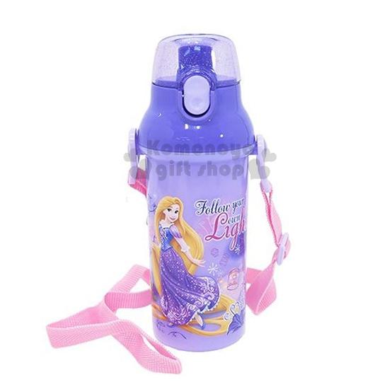 特價399↘〔小禮堂〕迪士尼 長髮公主 日製直飲式水壺《紫.站姿.變色龍.480ml》安全扣壓彈跳蓋