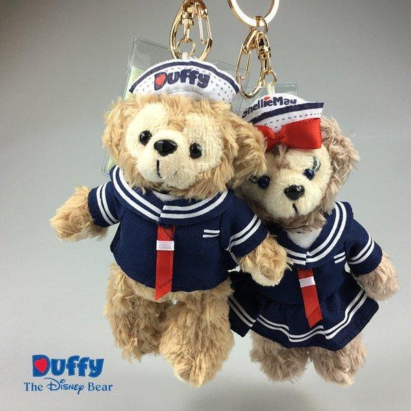 =優生活=【海軍版】日本東京迪士尼Duffy達菲熊ShellieMay 雪莉玫 14cm站熊 鑰匙圈 吊飾 絨毛娃娃 玩偶