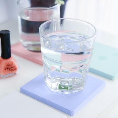 珪藻土方形杯墊/肥皂盤 皂托 杯墊 吸水 乾燥 除濕 防潮 珪藻土【B062345】