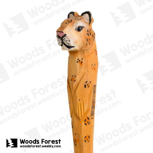Woods Forest 木雕森林 - 禮盒款手工木雕筆【金錢豹】