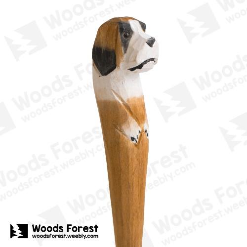 Woods Forest 木雕森林 - 禮盒款手工木雕筆【聖伯納犬】