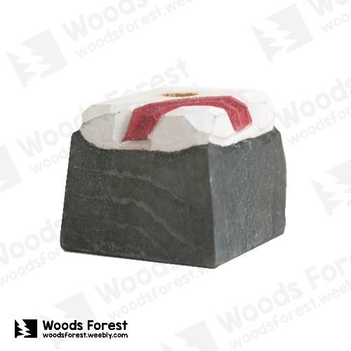 Woods Forest 木雕森林 - 禮盒款手工木雕筆單孔專用筆座【紅緞帶】