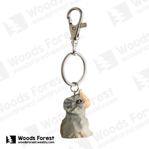 【我們約會吧!】木雕森林 木雕鑰匙圈【大象】