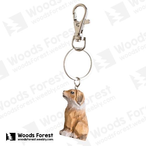 【我們約會吧!】木雕森林 木雕鑰匙圈【狗】
