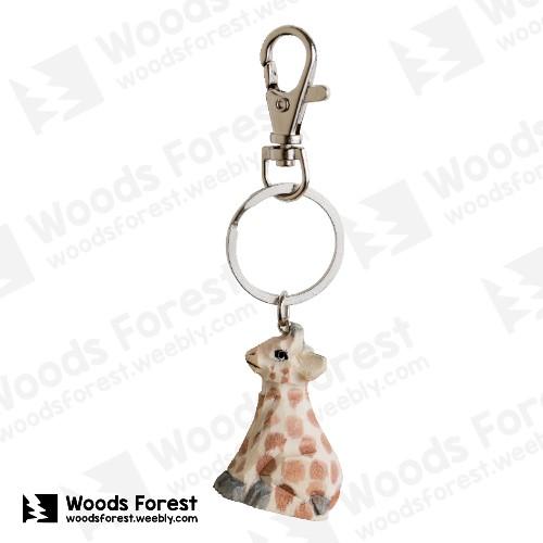 【我們約會吧!】木雕森林 木雕鑰匙圈【長頸鹿】