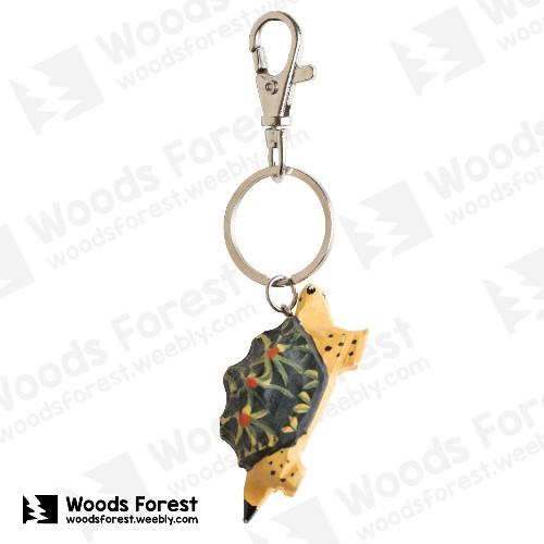 【我們約會吧!】木雕森林 木雕鑰匙圈【星龜】