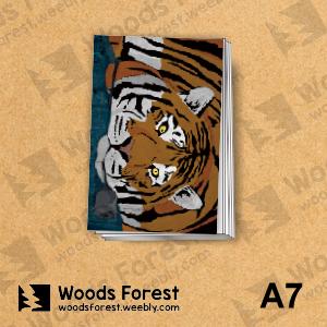 【我們約會吧!】木雕森林 A7迷你手記本(筆記本)【玫瑰虎】
