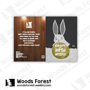 【我們約會吧!】木雕森林 L型文件夾【灰兔】