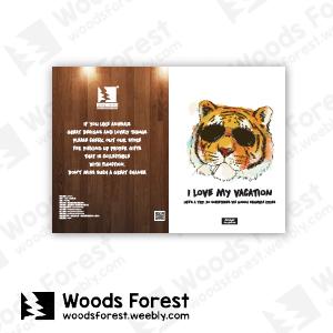 【我們約會吧!】木雕森林 L型文件夾【墨鏡虎】