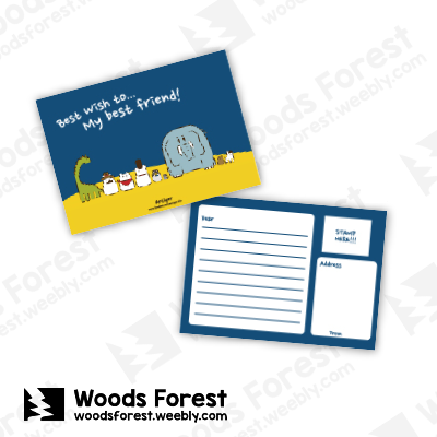 Woods Forest 木雕森林 - 明信片【好朋友萬用卡】
