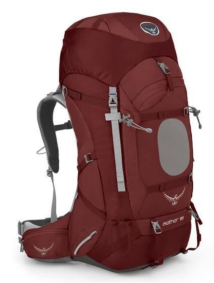 【鄉野情戶外專業】 Osprey |美國|  Aether 85 登山背包 男款-阿羅紅M _Aether85