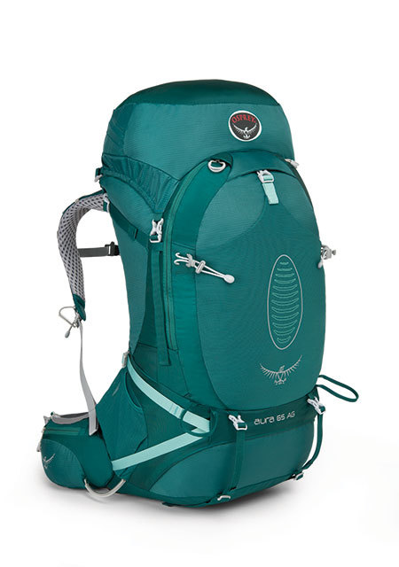 【鄉野情戶外專業】 Osprey |美國|  Aura 65 AG 休閒 健行 登山 旅行背包 女款-雨綠S_Aura65AG-RG